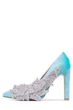 Jeffrey Campbell Shoes FROZEN New Arrivals in Aqua Silver