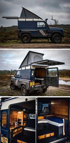 Land Rover Defender Camping, Defender Camper, Defender 90, Landrover Camper, Truck Camper, Camping Glamping, Camping And Hiking, Van Home, Camper Van Conversion Diy