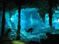 Underwater cave, Schinaria in Rethymnon region of Crete