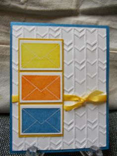 Stampi' Up! Arrows embossing folder, Lovely Amazing You