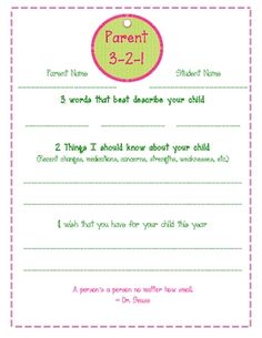 Parents fill out information about their children and send it back to school. ...
