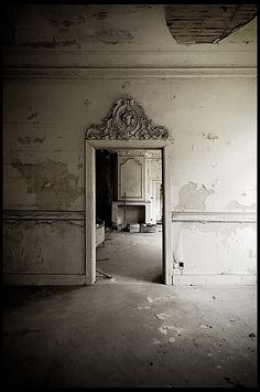 #distressed peeling plaster walls