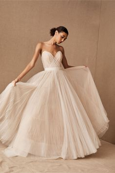 View larger image of Watters Rosen Gown Sophisticated Wedding Dresses, Simple Wedding Gowns, How To Dress For A Wedding, Plus Size Wedding, Dream Wedding Dresses, One Shoulder Wedding Dress, Blue Wedding Gowns, Bhldn Wedding, Gown Wedding
