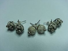 Handmade silver earrings(kazaziye)