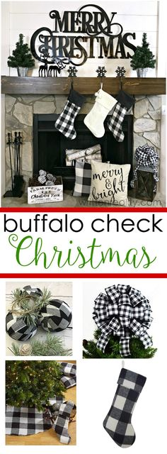 These Buffalo Check Christmas Decorations are great for a farmhouse look this Christmas. Budget Friendly finds online Looking for a few buffalo check Christmas decorations to add to your holiday decor this year? Check out these fabulous finds. Christmas Fireplace, Farmhouse Christmas Decor, Christmas Mantels, Plaid Christmas, Outdoor Christmas Decorations, Rustic Christmas, Christmas Home, Christmas Budget, Christmas Holidays