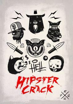 Hell Hipster crack by guenneguez Jérémy, via Behance
