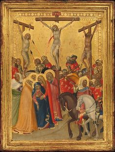 The Crucifixion -  Pietro Lorenzetti (Italian, active Siena 1320–44) Date: 1340s  Tempera and gold leaf on wood