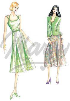Model 2731 | Sewing Pattern Dress
