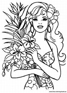barbiecoloringpages free printable barbie coloring pages for girls 22 - Barbie Girl Pictures For Colouring