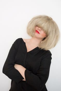 How to DIY Sia's Craziest Hairstyle for Halloween in Just 3 Steps via Brit + Co.
