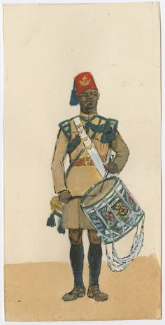 British; 3rd King's African Rifles,Drummer, 1900 by CCP Lawson