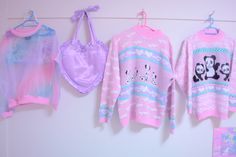 Cutesy pastel jumpers