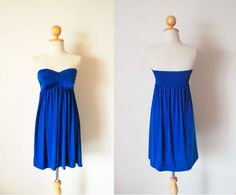 Gorgeous Mini Blue Dress by pinksandcloset on Etsy, $45.00