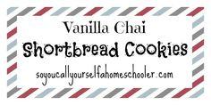 Vanilla Chai Shortbread Cookies