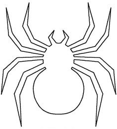 Spider Shape Template - 55 Crafts & Colouring Pages Animal Templates, Shape Templates, Applique Templates, Templates Printable Free, Moldes Halloween, Halloween Templates, Manualidades Halloween, Halloween Spider, Halloween Crafts