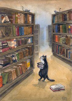 Gatito Bibliotecario liselotte-eriksson