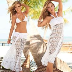 Lace Bikini Crochet Cover Ups Skirt or Dress