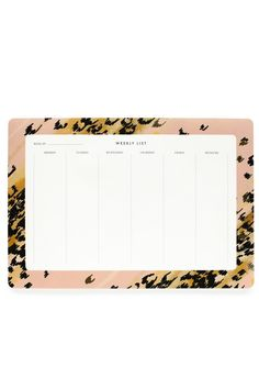 "This beautiful desk pad is so chic and the perfect accessory for your office.    Measures 6.75"" x 9.75"".   Leopard Desk Pad by Rifle Paper Co. . Home & Gifts - Gifts - Stationery & Office Washington"