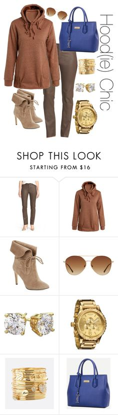 """Hood(ie) Chic"" by marlea-z-wilson on Polyvore featuring Lafayette 148 New York, 424 Fifth, MANGO, Nixon, Avenue and warmtaupe"