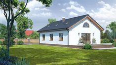 Projekt domu Chmielów 94,74 m2 - koszt budowy - EXTRADOM Home Fashion, Cabin, Mansions, House Styles, Home Decor, Decoration Home, Manor Houses, Room Decor, Cabins