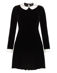 Black Velvet Ophelia Dress | Meadham Kirchhoff | Avenue32