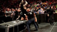 The Shield and Evolution sign the contract ahead of their WWE Payback No Holds Barred Elimination Match.