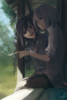 Shiro et Natalie Yuri Anime, Anime Art, Anime Friendship, Beautiful Anime Girl, Haikyuu Anime, Cute Characters, Illustrations And Posters, Touken Ranbu, Manga Girl