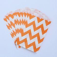 12 Candy-Bags Orange Chevron