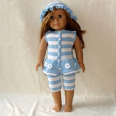 Ravelry: Tights, Top and Hat to American Girl Doll or similar 18 inch Doll pattern by Susanne Fågelberg
