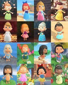All the Disney Animated Princesses I've made so far. There's some princesses with more dresses not shown but on my profile. MA-4312-5770-8923 : AnimalCrossing