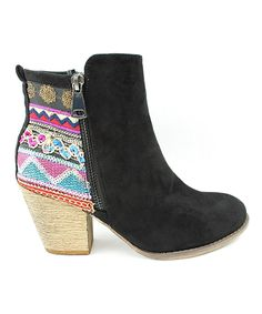 Look at this Corrina Black Mika Geo Bootie on #zulily today!