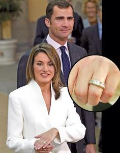 The only son of King Juan Carlos and Queen Sofia of Spain, Felipe, Prince of Asturias, asked for the hand of former journalist Letizia Ortiz Rocasolano in 2003 with a 16 baguette diamond ring set in white gold. Felipe also presented his bride-to-be with a family heirloom jewel as a gift, while Princess Letizia marked the occasion by giving him white gold and sapphire cufflinks and a classic book.
