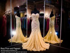 Gold Completely Beaded Mermaid Evening Gown- Sweetheart Neckline-Strapless-115JC050960 at Rsvp Prom and Pageant, Atlanta Prom Stores