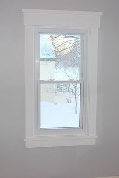 DIY Craftsman Style Window Trim - I did not know that this was enough of a thing to have a special name! But it looks nice. (And we have it on most of our windows now.)