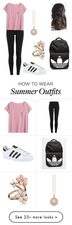 """Back to school outfit"" by alayna1205 on Polyvore featuring Polo Ralph Lauren, H&M, adidas, Accessorize and Thomas Sabo"