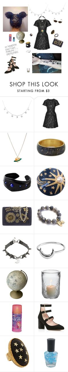 """It's a sky full of stars"" by angeladesantis ❤ liked on Polyvore featuring Markus Lupfer, Tatty Devine, NOVICA, Karl Lagerfeld, Emilio Pucci, Hot Topic, Simon Pearce, Yves Saint Laurent, Kate Spade and Allison Daniel"