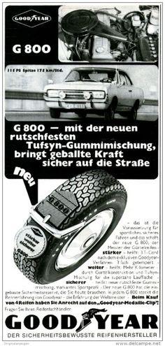 Original-Werbung/ Anzeige 1968 - GOODYEAR REIFEN - ca. 115 x 240 mm