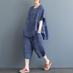 Pakistani Dresses Casual, Casual Dresses, Chic Outfits, Fashion Outfits, Womens Linen Clothing, Linen Shirt Dress, Pants For Women, Clothes For Women, Blouse Vintage