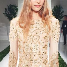 Beautiful beaded details at the Rachel Zoe presentation