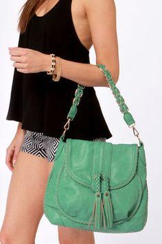Cute Sea Green Handbag - Vegan Purse - $66.00