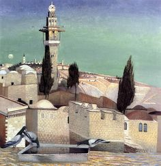 """The Mount of Olives in Jerusalem,"" by Tivadar Kosztka Csontváry (1853-1919) Hungarian Painter ~  Blog of an Art Admirer"