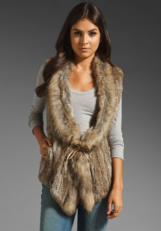 I'd love to add a structured faux fur vest to my wardrobe     HEARTLOOM Lara Fur Vest in Natural at Revolve Clothing