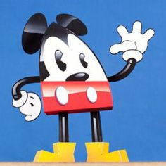 Tektonten Papercraft - Free Papercraft, Paper Models and Paper Toys: Teardrop Mickey Mouse Paper Toy