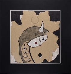 """Drop."" Graphic series ""Night Moods."" by Uliana Pucheglazova. 72,9/70,1 см."