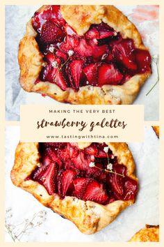 Strawberry Galette Recipe, Strawberry Recipes, Spring Recipes, Easter Recipes, Easter Food, Cookie Desserts, Dessert Recipes, Dessert Ideas, Gallette Recipe