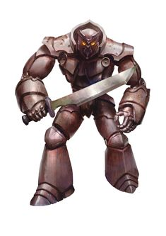 Golem, Iron (from the D&D fifth edition Monster Manual). Art by Conceptopolis.