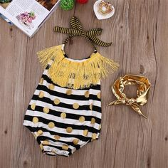 2Pcs/Set ! Newborn Infant Baby Girls Sleeveless Tassel Romper Halter Belt…