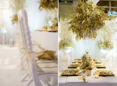 Gold White Decorations by Wedding Events GmbH/www.andreakuehnis.com