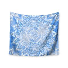 Kess InHouse Suzanne Carter Wave Teal Abstract Table Runner