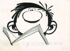 9emeart:  Gaston jette un oeil Andre Franquin
